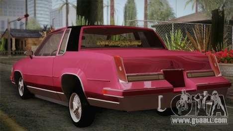 Oldsmobile Cutlass 1987 v2.2 for GTA San Andreas left view