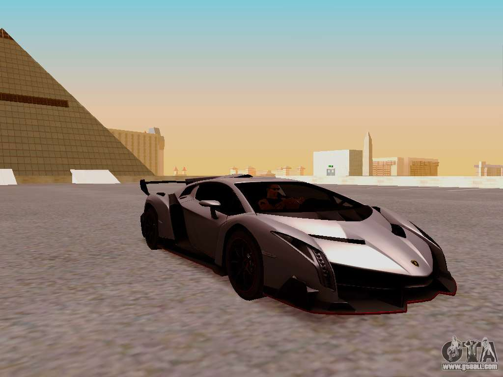 Lamborghini Veneno For GTA San Andreas Back Left View