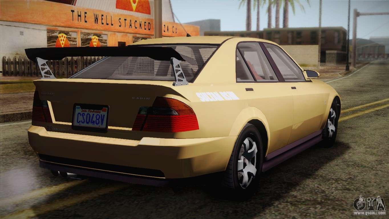 7 Passenger Vehicles >> GTA 5 Karin Sultan for GTA San Andreas