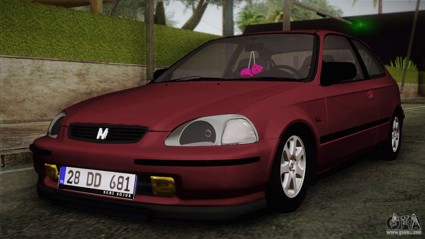 honda civic s tmc for gta san andreas. Black Bedroom Furniture Sets. Home Design Ideas