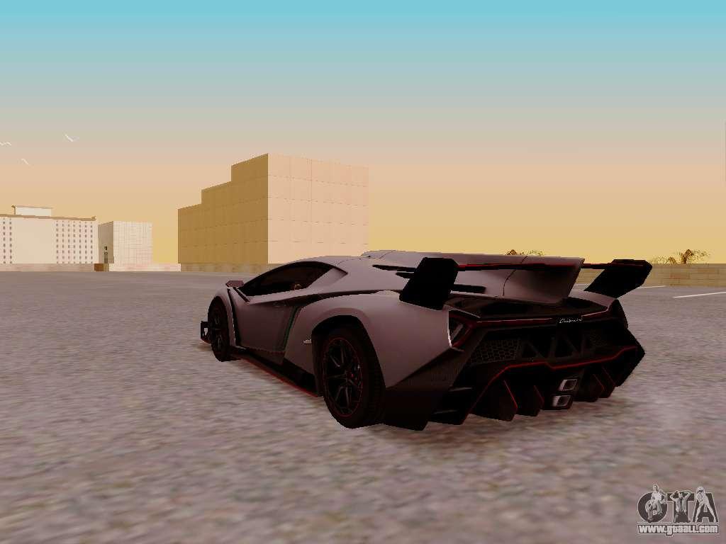 Lamborghini Veneno For GTA San Andreas Back View