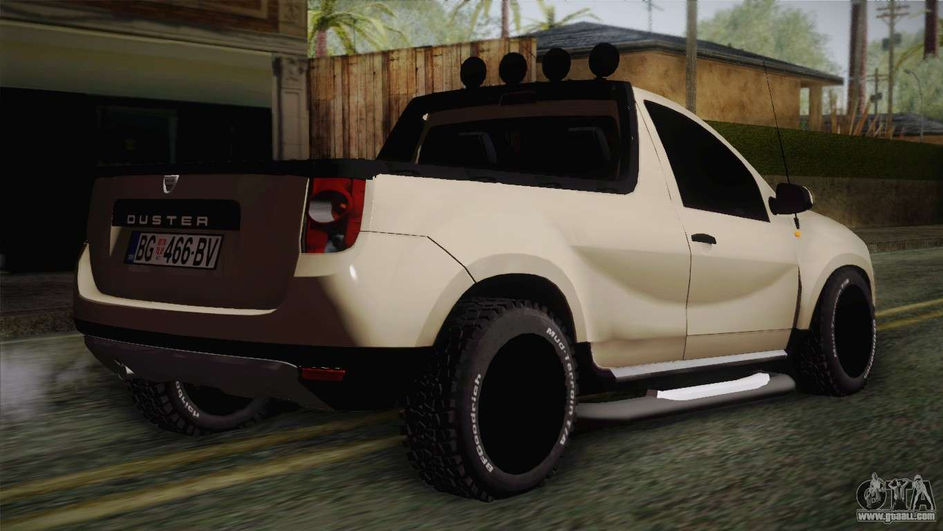 dacia duster pickup 2014 for gta san andreas. Black Bedroom Furniture Sets. Home Design Ideas