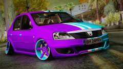 Dacia Logan Purple-Blue for GTA San Andreas