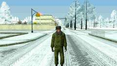 Pak military of the Russian Federation in the winter uniforms for GTA San Andreas