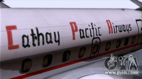 L-188 Electra Cathay P 1950-1958 for GTA San Andreas back view