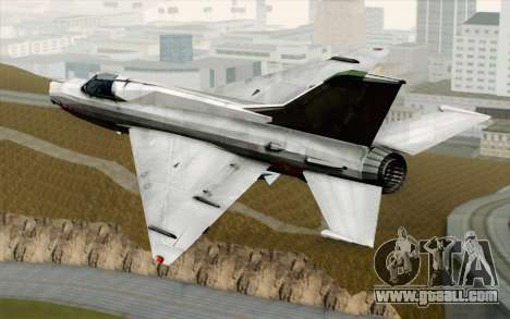 MIG-21MF Vietnam Air Force for GTA San Andreas left view