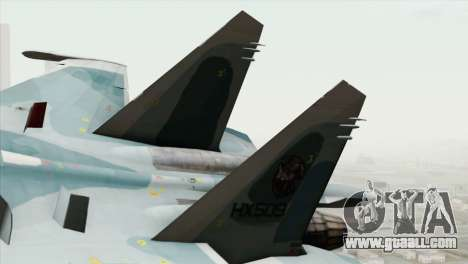 Sukhoi SU-27 PMC Reaper Squadron for GTA San Andreas back left view