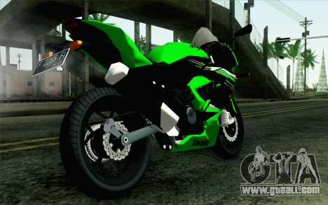 Kawasaki Ninja 250RR Mono Green for GTA San Andreas left view