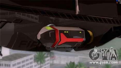 Shuttle v1 (wheels) for GTA San Andreas back left view