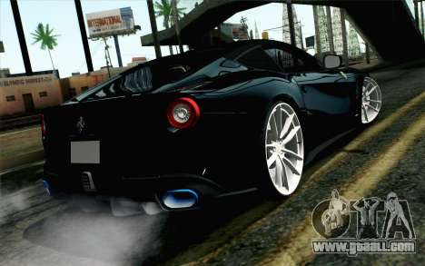 Ferrari F12 Berlinetta for GTA San Andreas left view
