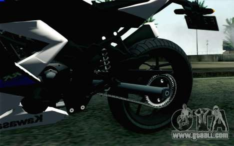 Kawasaki Ninja 250RR Mono White for GTA San Andreas back left view