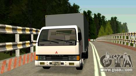 Mitsubishi Fuso Canter 1989 Aluminium Van for GTA San Andreas left view