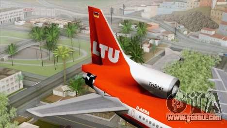 Lookheed L-1011 LTU Intl for GTA San Andreas back left view