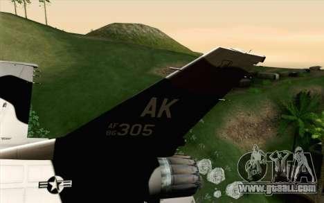 F-16C Fighting Falcon Aggressor Alaska BlackGrey for GTA San Andreas back left view