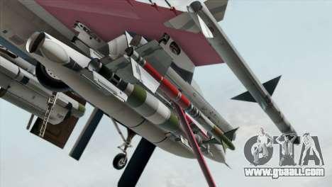 YF-16 Fighting Falcon for GTA San Andreas right view