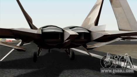 F-22 Raptor 02 for GTA San Andreas back view