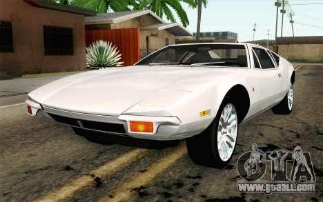 De Tomaso Pantera 1971 for GTA San Andreas