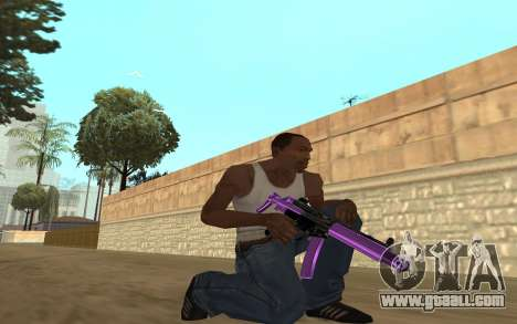Purple Weapon Pack by Cr1meful for GTA San Andreas