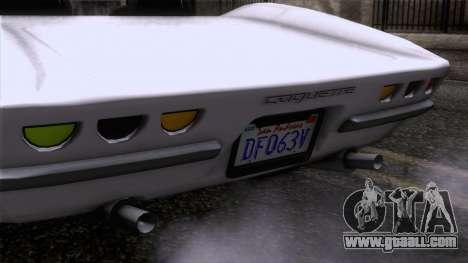 GTA 5 Invetero Coquette Classic TL SA Mobile for GTA San Andreas back view