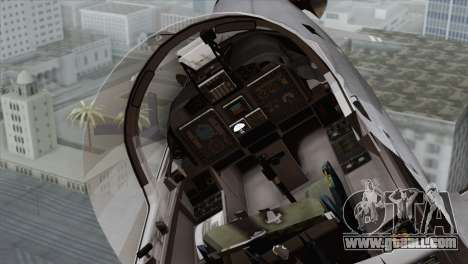 Embraer A-29B Super Tucano Marines for GTA San Andreas back view