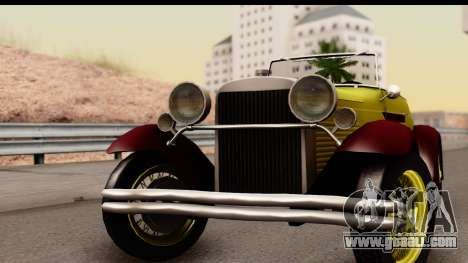 Ford A 1928 for GTA San Andreas back left view