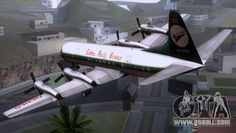 L-188 Electra Cathay P for GTA San Andreas left view
