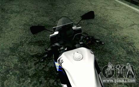Kawasaki Ninja 250RR Mono White for GTA San Andreas right view