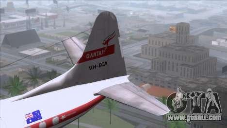 L-188 Electra Qantas for GTA San Andreas back left view