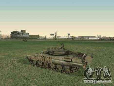 Tank T-72B for GTA San Andreas back view