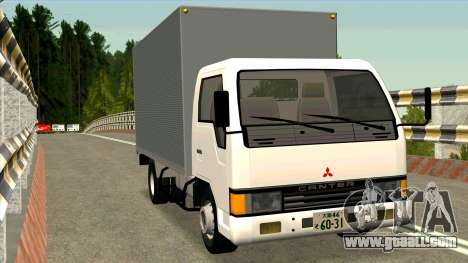 Mitsubishi Fuso Canter 1989 Aluminium Van for GTA San Andreas back view