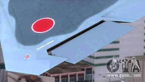 YF-23 JASDF for GTA San Andreas back view