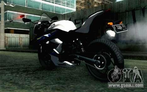 Kawasaki Ninja 250RR Mono White for GTA San Andreas left view