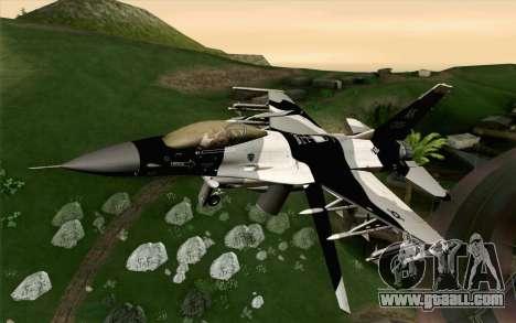 F-16C Fighting Falcon Aggressor Alaska BlackGrey for GTA San Andreas