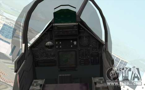 Dassault Mirage 2000 ISAF for GTA San Andreas right view