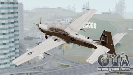 Embraer A-29B Super Tucano Navy White for GTA San Andreas left view