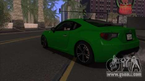 Scion FR-S 2013 Stock v2.0 for GTA San Andreas bottom view