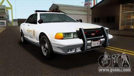 GTA 5 Vapid Stanier Sheriff SA Style for GTA San Andreas