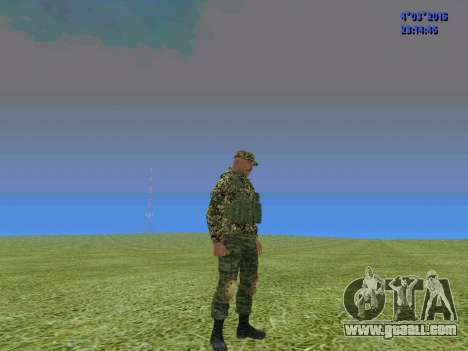 Soldier from battalion to Somalia for GTA San Andreas third screenshot