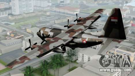 C-130B Indonesian Air Force (TNI AU) for GTA San Andreas left view