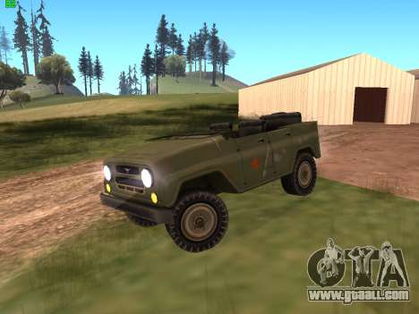 UAZ military for GTA San Andreas