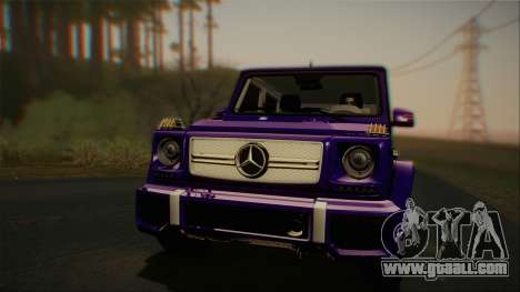 Mercedes-Benz G65 2013 Stock body for GTA San Andreas left view