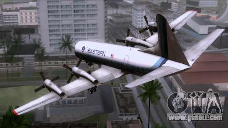 L-188 Electra Eastern Als for GTA San Andreas left view