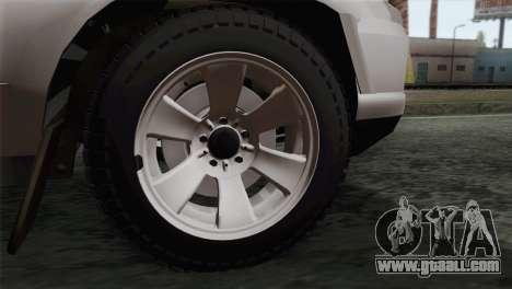 Chevrolet Niva for GTA San Andreas back left view