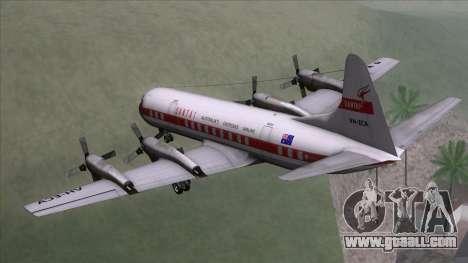 L-188 Electra Qantas for GTA San Andreas left view