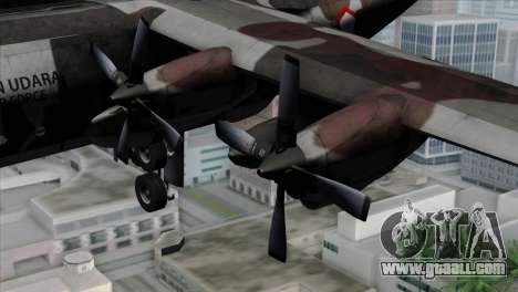 C-130B Indonesian Air Force (TNI AU) for GTA San Andreas right view