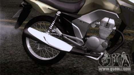 Honda CG Titan 150 2014 for GTA San Andreas back view