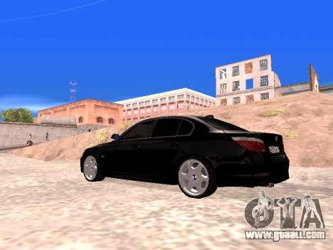 BMW 525i (e60) for GTA San Andreas left view