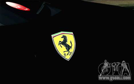 Ferrari F12 Berlinetta for GTA San Andreas back view