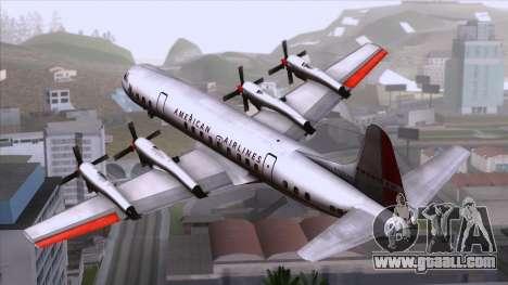 L-188 Electra American Als for GTA San Andreas left view