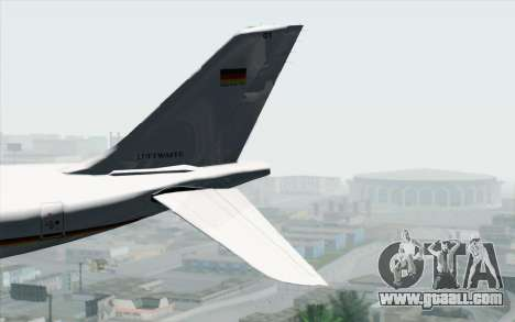 Airbus A340-300 Luftwaffe Konrad Adenauer for GTA San Andreas back left view